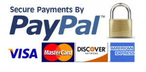 Secure payment processing through Stripe and PayPal accepting credit cards such as Visa, MasterCard, Discover, Amex